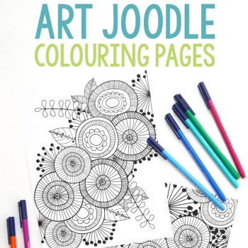 Art Joodle Colouring Pages