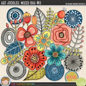 Art Joodles: Mixed Bag #3 by Kate Hadfield Designs