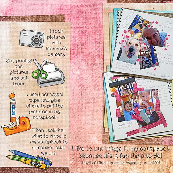 Kate Hadfield Designs Creative Team scrapbooking favourites | Layout by Kristina