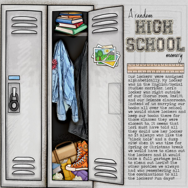 """Kate Hadfield Designs Creative Team """"Back to School"""" favourites: Layout by Christa"""