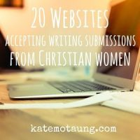 20 websites accepting writing submissions from Christian women