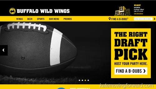 buffalo wild wings website