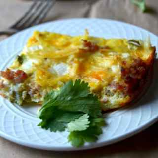 Southwest Egg Casserole - A delicious and easy overnight breakfast recipe. Super simple to make and customize.