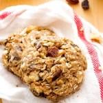 Cinnamon Walnut Raisin Breakfast Cookies