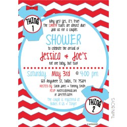 State Thing One Thing Two Baby Shower Invitation Thing One Thing Two Baby Shower Invitation Kateogroup Tinyprintsshopbaby Shower Invitations Boysm baby shower Baby Shower Invitations For Boys