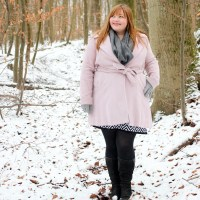 Schnee & rosa Mantel {Outfit}