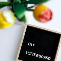 Quadratische Sprüchetafel / Letter Board DIY