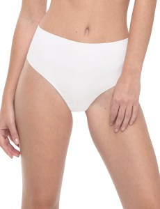 commando hi rise thong, white