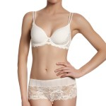 Amour 3D Plunge Bra, Ivory