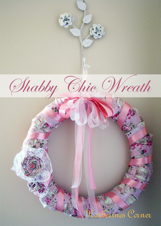 shabby chic wreath katherines corner