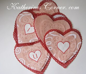 bunting hearts katherines corner