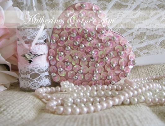 pink sequin heart katherines corner