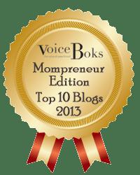 Toot Toot, Tooting My Horn, Top 10 Mompreneurs