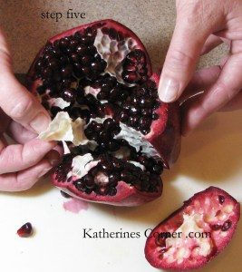 step five how to seed a pomegranate