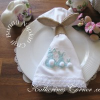 Easter Bunny Napkin Craft