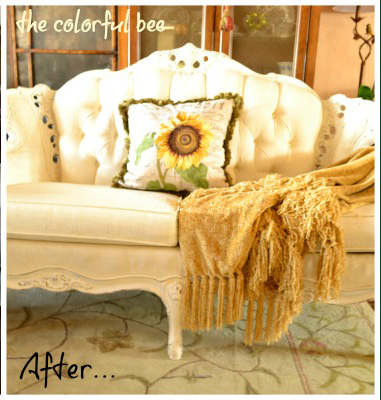 painting on fabric furniture