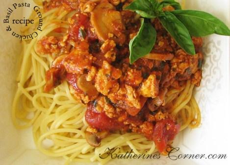 ground chicken basil pasta