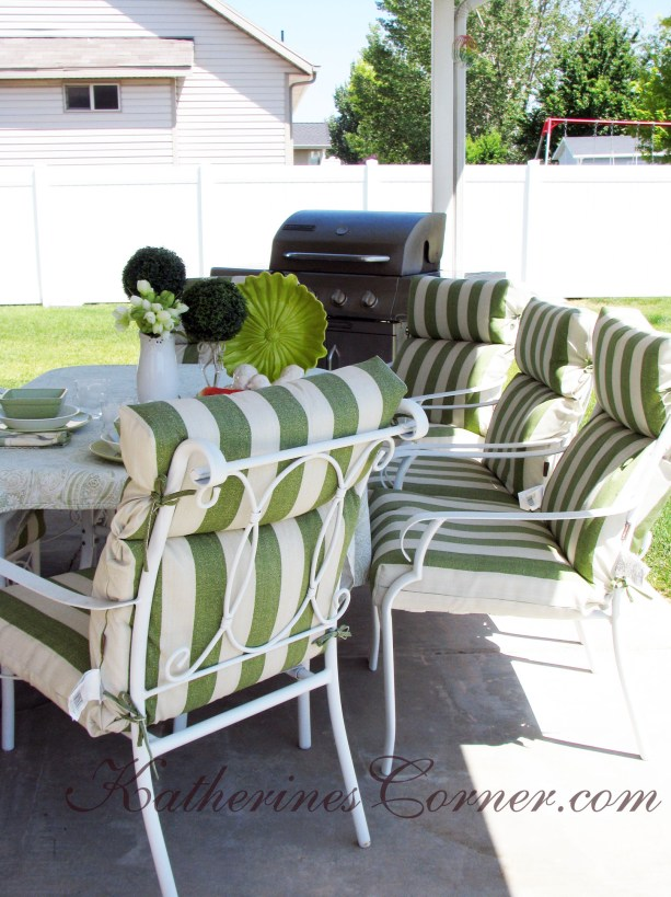 lowes striped patio cushions katherines corner