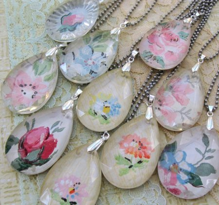 chandelier necklace craft