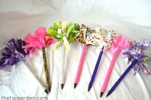 pom pom pens craft