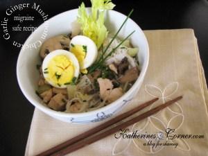 Garlic Ginger Mushroom Chicken Noodle Bowl