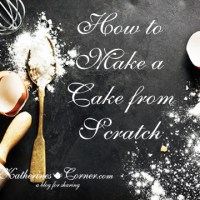 Make A Cake From Scratch
