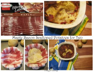 Maple Bacon Scalloped Potatoes For Two