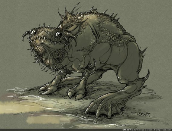 Big lumpy swamp monster