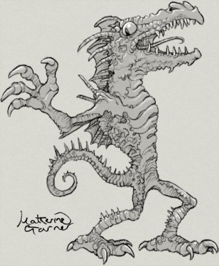 dragon goblin monster by Katherine Garner