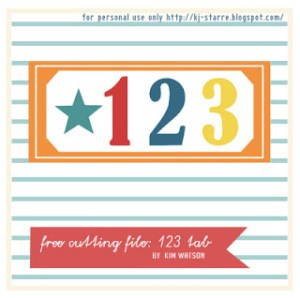 123 tab layered file by Kim Watson