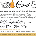 (Breast) Cancer Awareness Card Challenge from Kat Scrappiness & Newton's Nook Designs