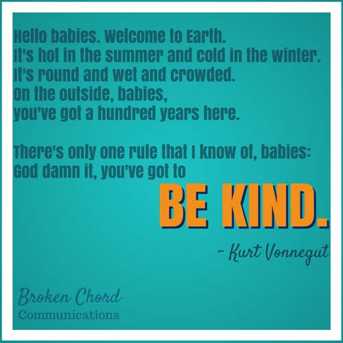 BCC be kind vonnegut