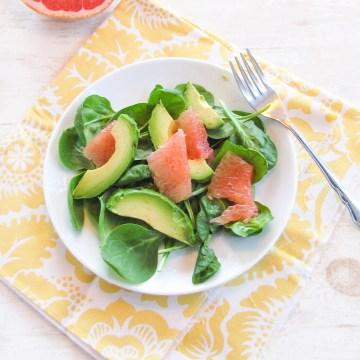 Grapefruit, Avocado, and Spinach Salad