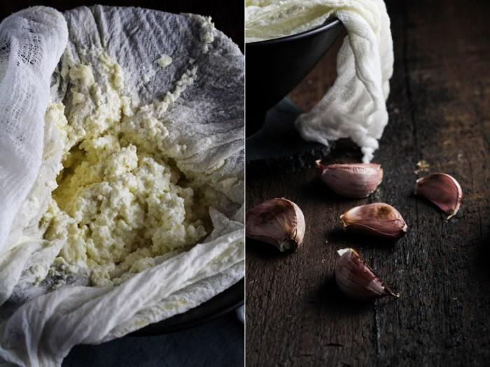 Homemade Roasted Garlic Ricotta {Katie at the Kitchen Door}