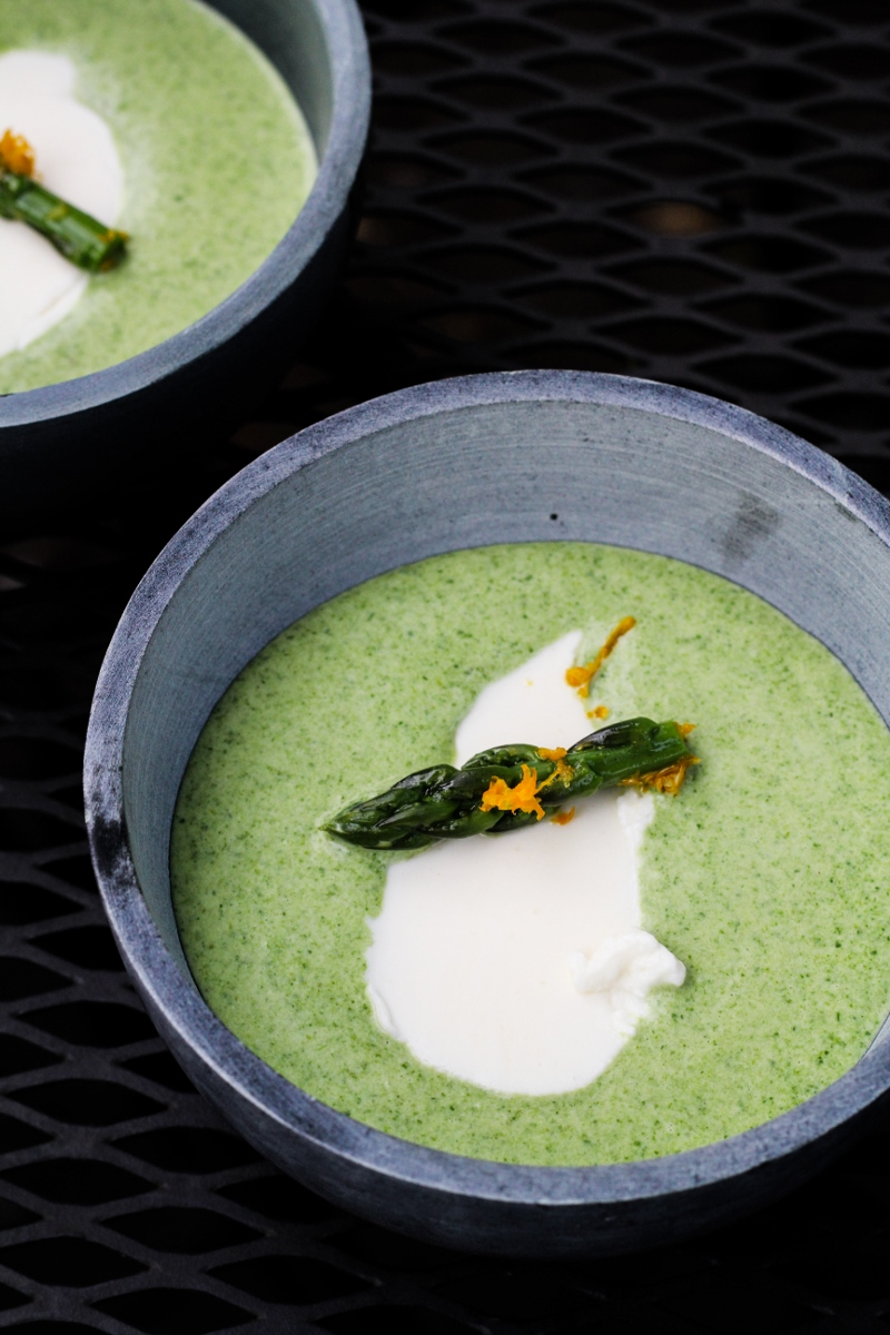 Sunday Dinner: Chilled Asparagus Soup with Meyer Lemon Yogurt {Katie ...