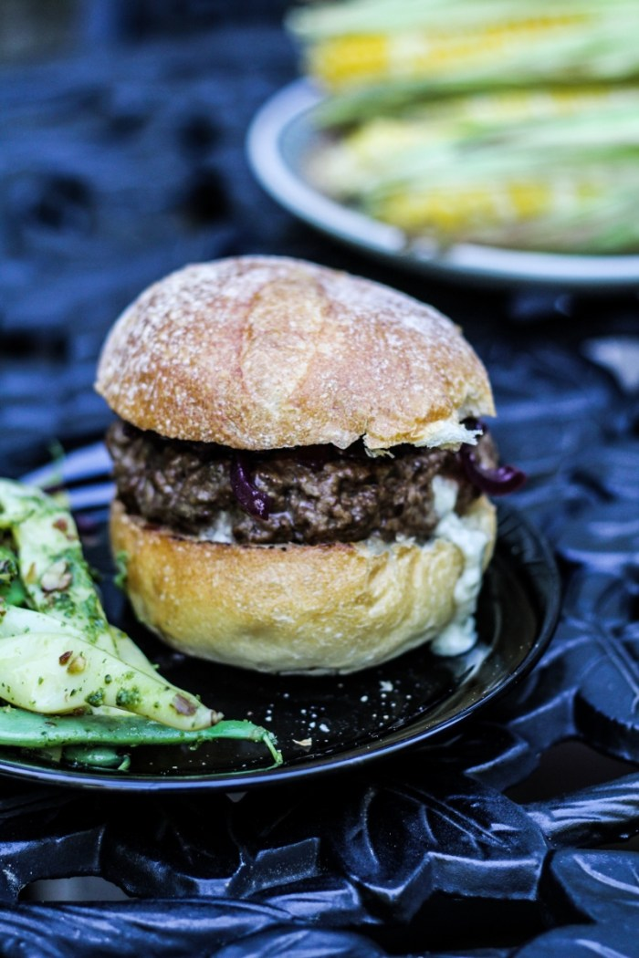 Blue Cheese Stuffed Burgers