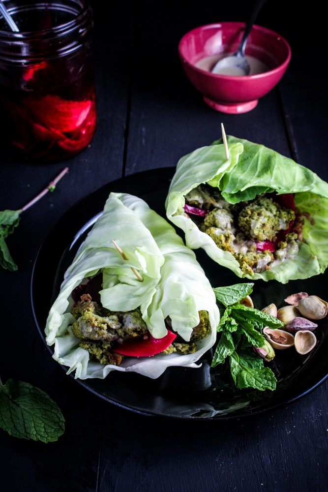Healthy Winter Recipes - Baked Herb and Pistachio Falafel