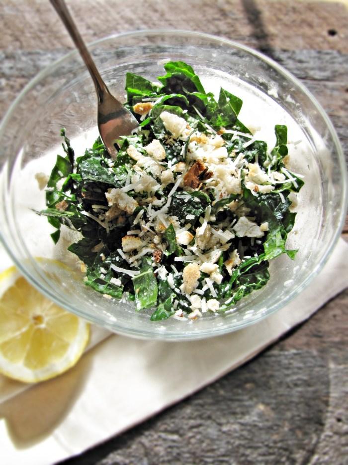 Healthy Winter Recipes - Kale and Pecorino Salad