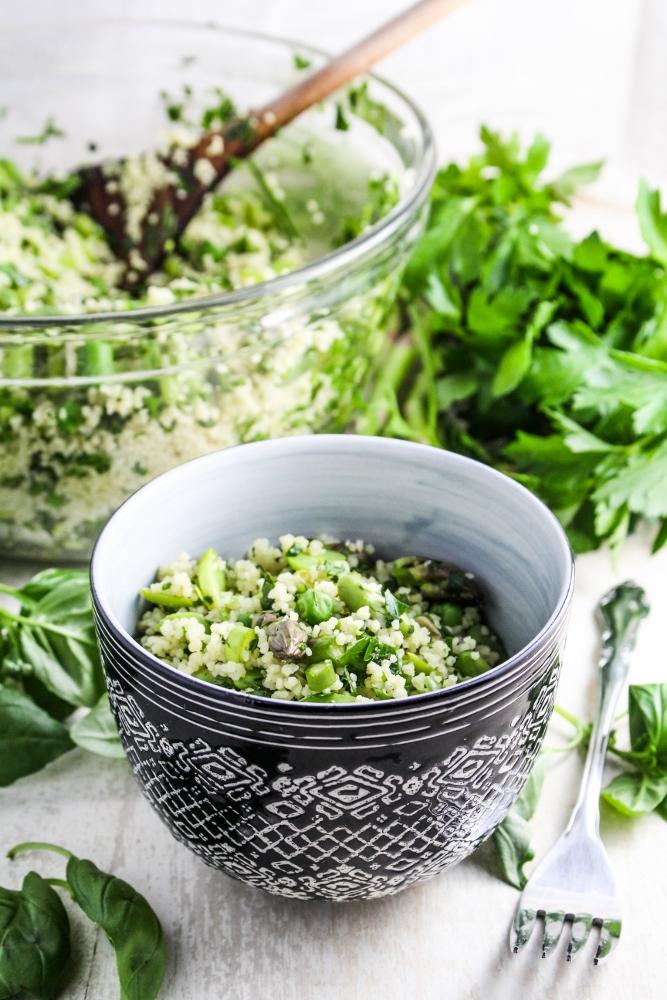 Herb-Flecked Spring Couscous {Katie at the Kitchen Door}