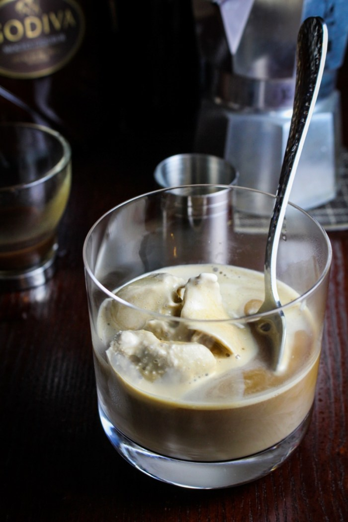 Chocolate Stout Affogato with Coffee Ice Cream {Katie at the Kitchen Door{