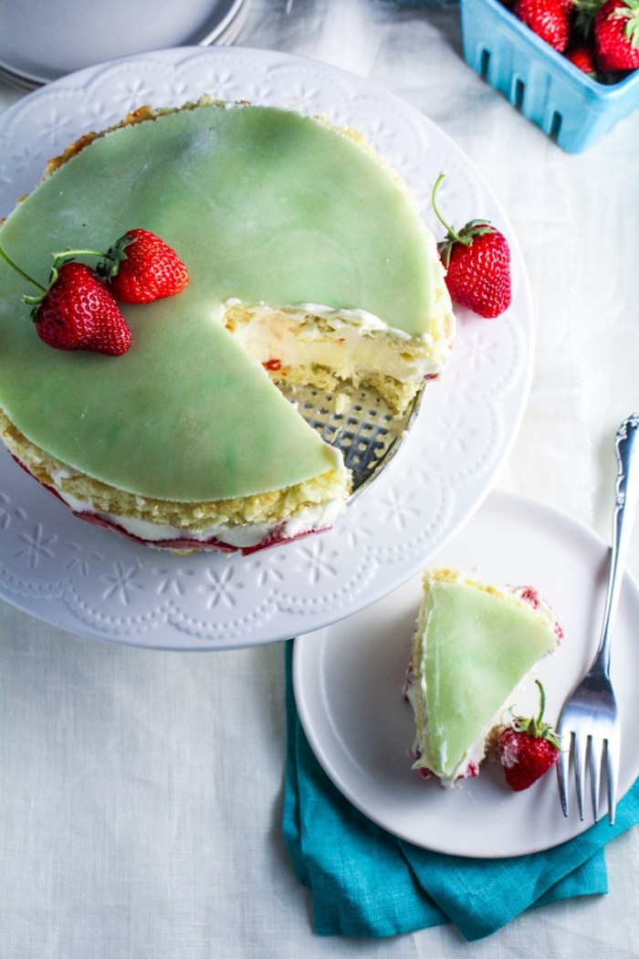 Classic French Fraisier {Katie at the Kitchen Door}