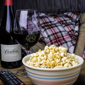 Movie Night: Maple-Chili-Butter Popcorn {Katie at the Kitchen Door} #cambriawines #sponsored