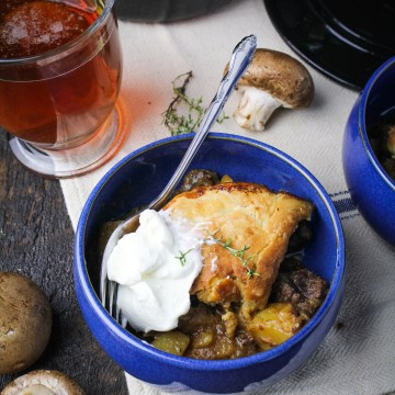 Beef, Mushroom, and Ale Pot Pie