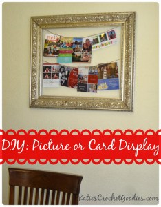 DIY Picture or Card Display