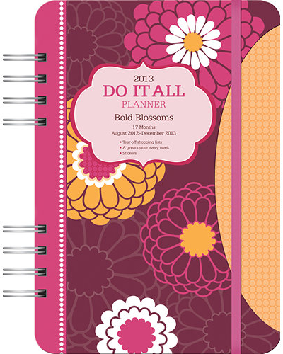 bold blossoms planner 2012 2013
