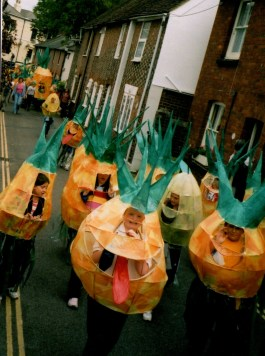 Willow workshops, pineapple costume, carnival,