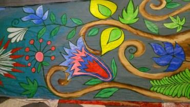 Floor painting, props, painting, flowers