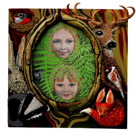 Forest Kids, portrait, portraits, portraits of children, stag, fox, woods,