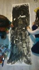 Masking tape skeleton