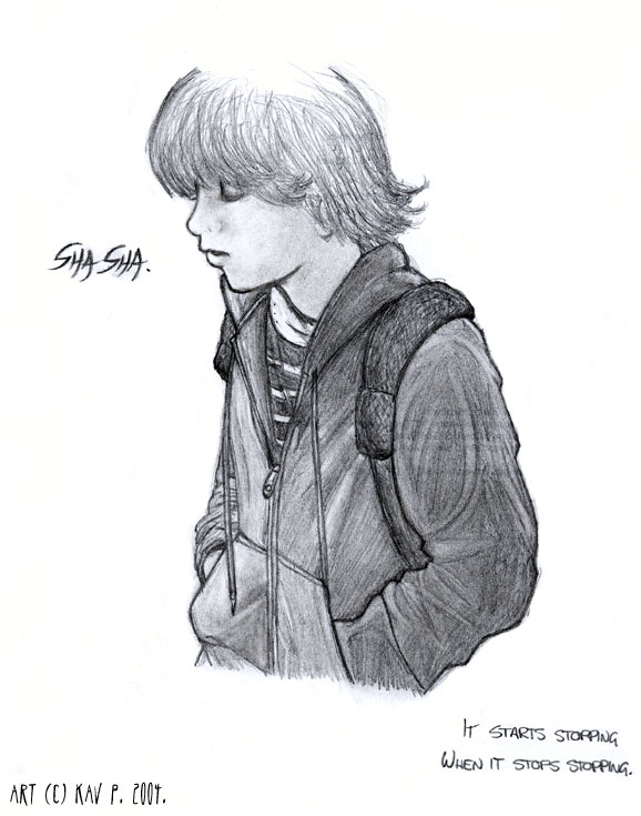 One of the first portraits I ever drew: Ben Kweller.
